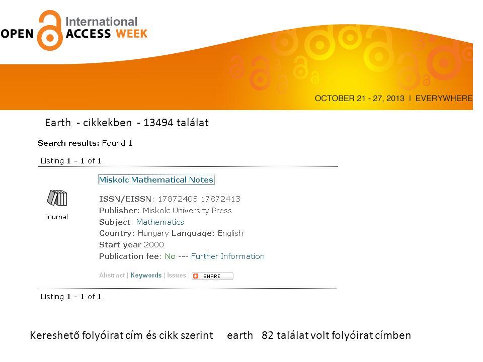 Earth - cikkekben - 13494 találat
