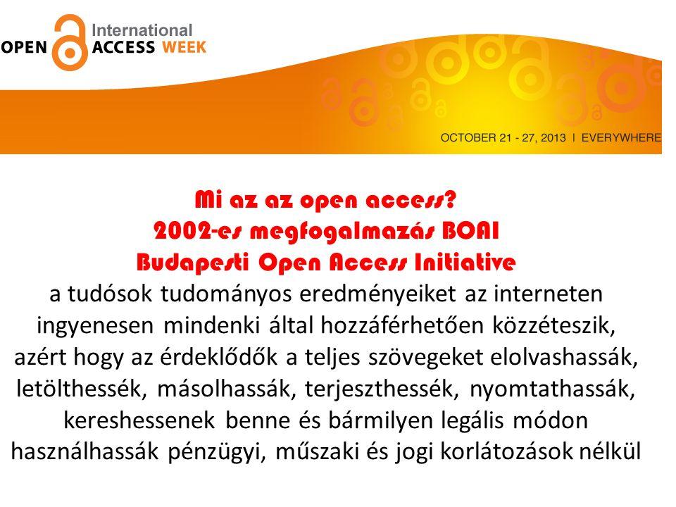 Az Open access 11 éve Mi az az open access.