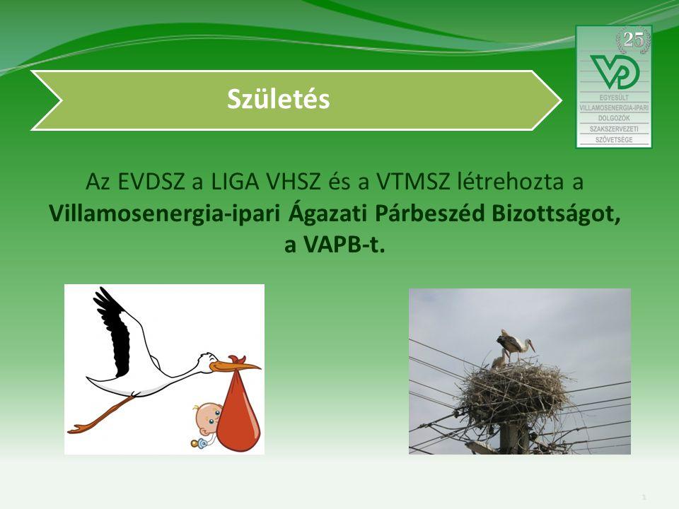 Az EVDSZ a LIGA VHSZ és a VTMSZ létrehozta a Villamosenergia-ipari Ágazati Párbeszéd Bizottságot, a VAPB-t.