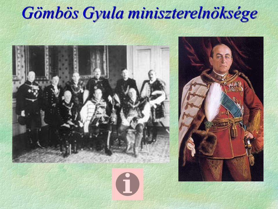 Gömbös Gyula miniszterelnöksége
