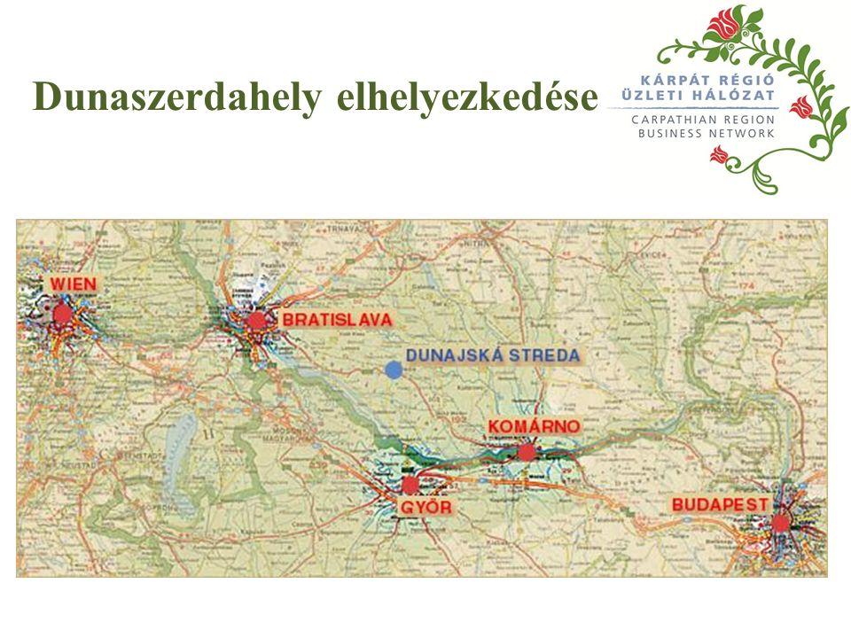 Dunaszerdahely elhelyezkedése