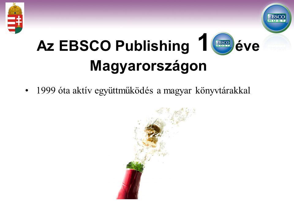 Az EBSCO adatbázisok felhasználói statisztikái Magyarországon 2006-2009/09/10 23% + 39,7% +