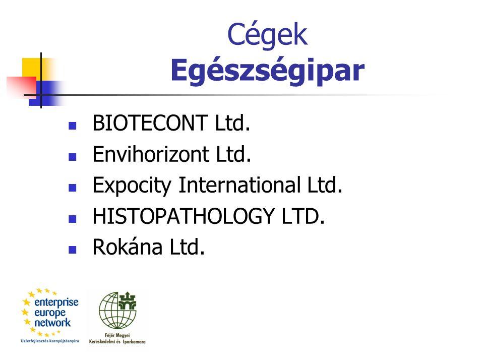 Cégek Egészségipar BIOTECONT Ltd. Envihorizont Ltd.