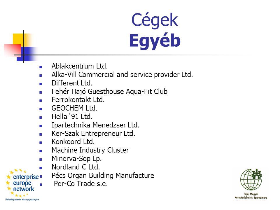 Cégek Egyéb Ablakcentrum Ltd. Alka-Vill Commercial and service provider Ltd.