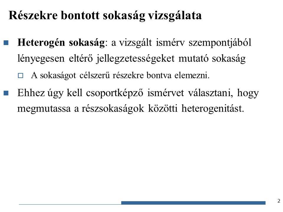 Gazdaságstatisztika, 2015 Fősokaság 1.részsokaság 2.