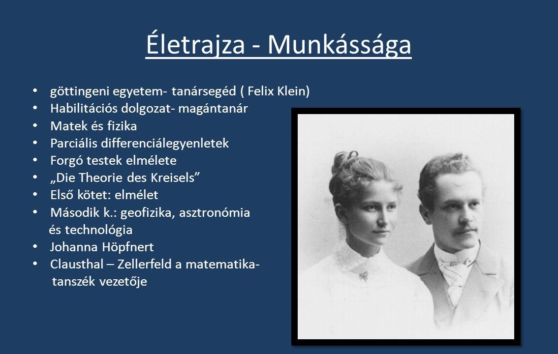 Életrajza - Munkássága 1900 Aachen Műszaki Főiskola matematika - tanszék vezető Hidrodinamika elmélet 1906 müncheni egyetem Elméleti Fizikai Intézetének professzora és igazgatója Wolfgang Pauli, Werner Heisenberg, és Walter Heitler Tanította: mechanikát, elektrodinamikát, optikát, termodinamikát, mate matikai statisztikát és a fizikában használatos parciális differenciálegyenleteket