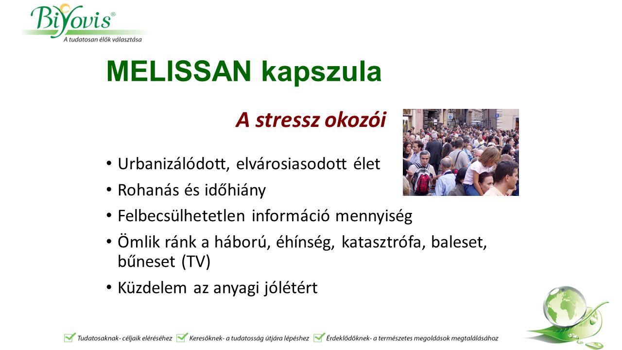 MELISSAN kapszula A stressz által kiváltott DEPRESSZIÓ egy mentális betegség, a XXI.