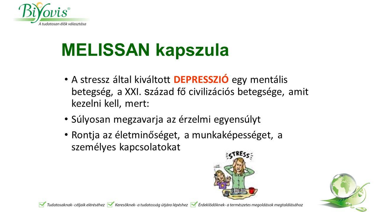 MELISSAN kapszula Mik a depresszió tünetei: Állandó fáradtság, szorongás, ürességérzés Reménytelenség, pesszimizmus Önhibáztatás, alacsony önértékelés Álmatlanság, szorongásos ébredés