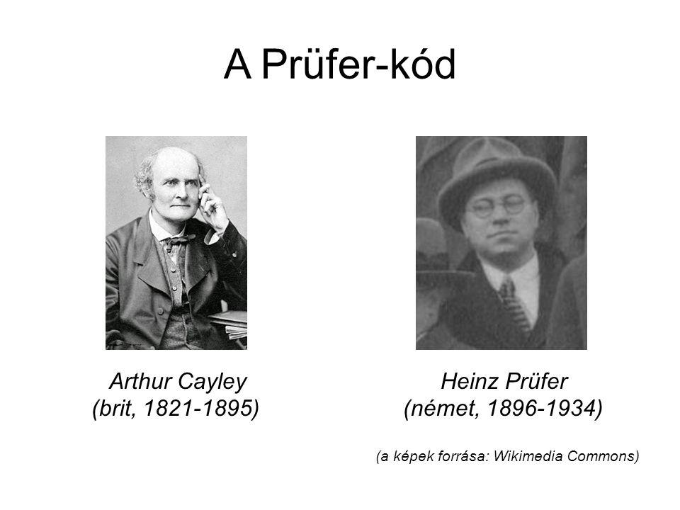 A Prüfer-kód Arthur Cayley Heinz Prüfer (brit, 1821-1895) (német, 1896-1934) (a képek forrása: Wikimedia Commons)