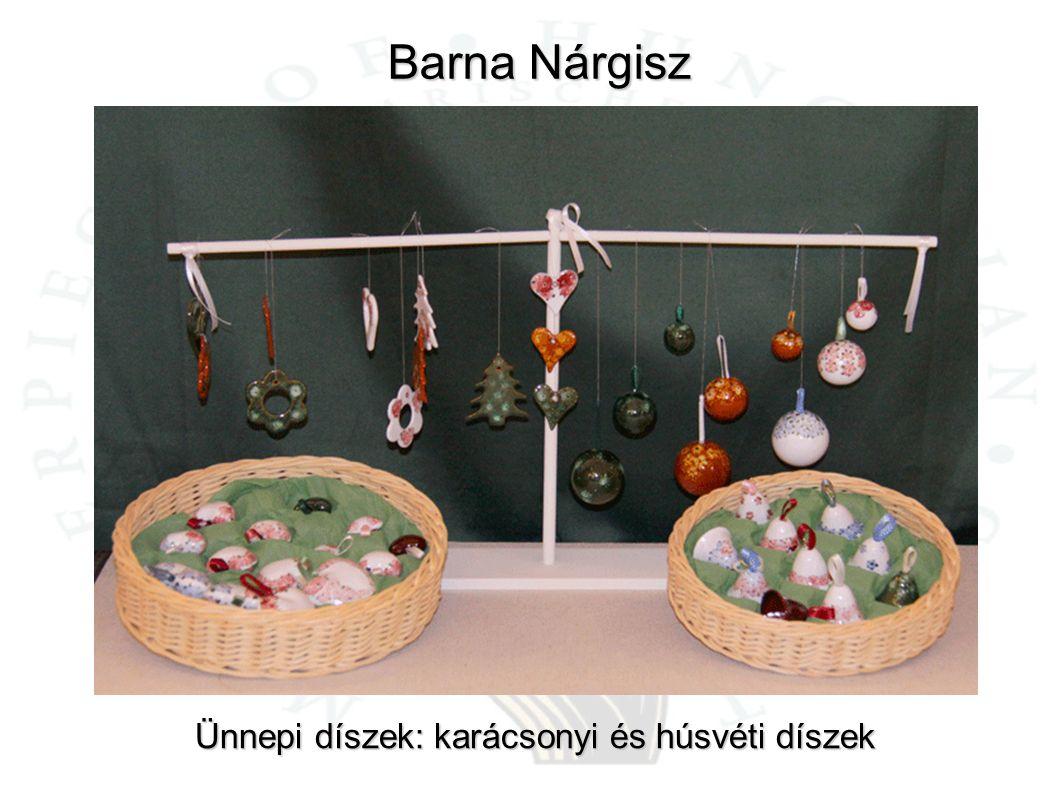 Barna Nárgisz Ünnepi díszek: karácsonyi és húsvéti díszek