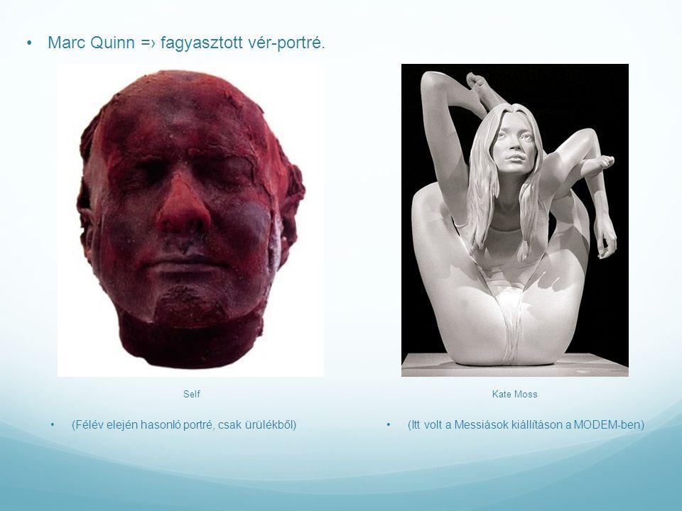 Marc Quinn =› fagyasztott vér-portré.