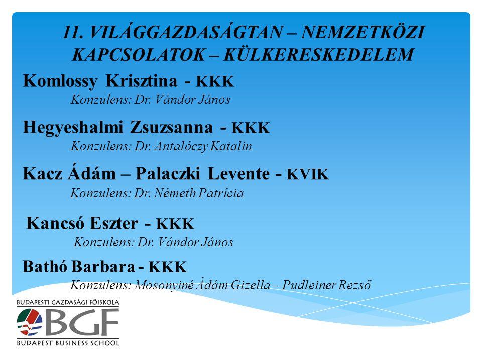 Kacz Ádám – Palaczki Levente - KVIK Konzulens: Dr.