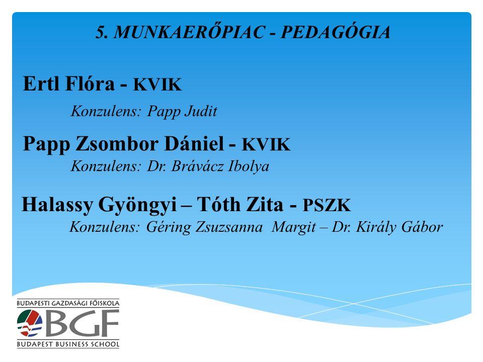 Ertl Flóra - KVIK Konzulens: Papp Judit 5.