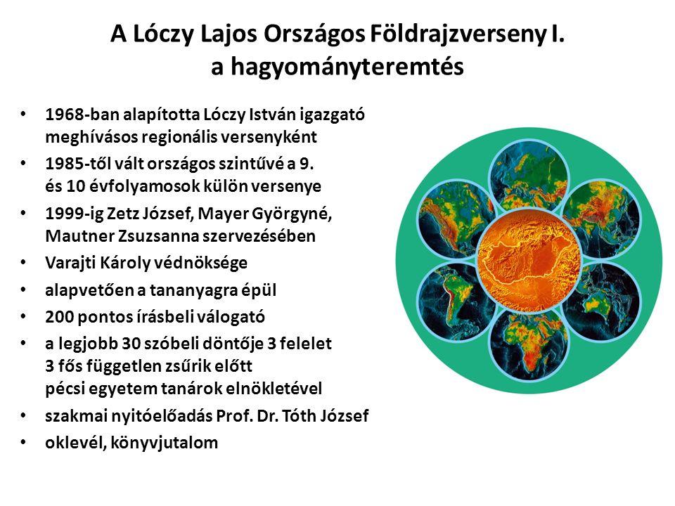 A Lóczy Lajos Országos Földrajzverseny I.