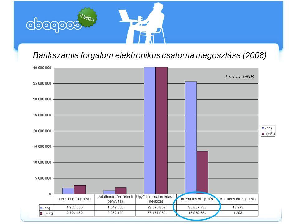 Internetes megbízás forgalom (2008) Forrás: MNB