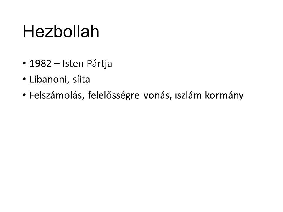 Hezbollah 1982 – Isten Pártja Libanoni, síita Felszámolás, felelősségre vonás, iszlám kormány