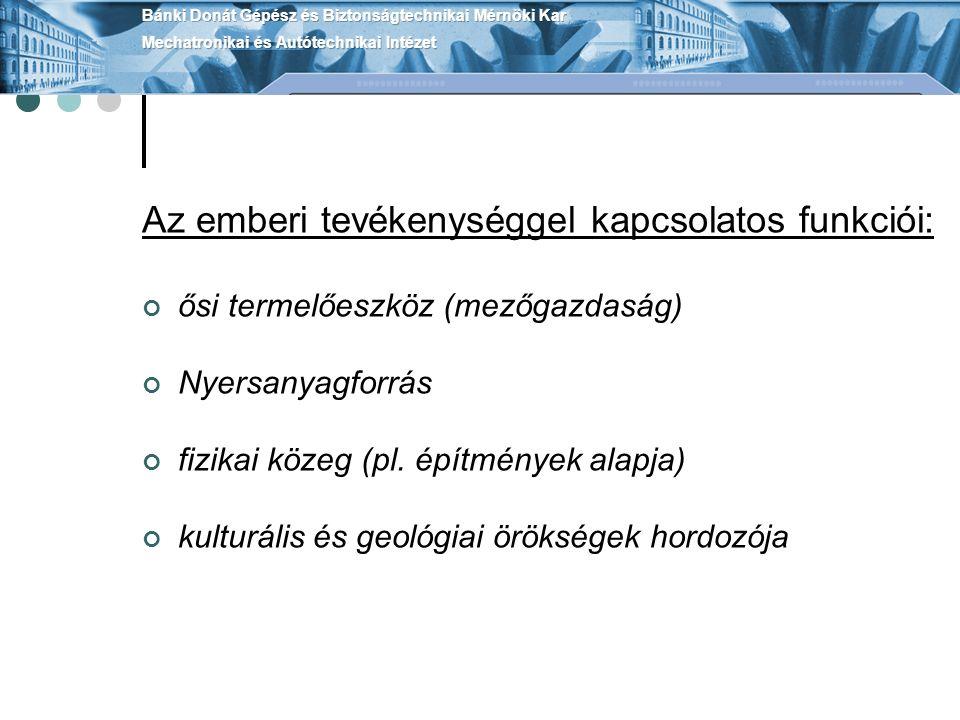 Magyarország főbb talajtípusai: 1.barna erdőtalajok, 2.