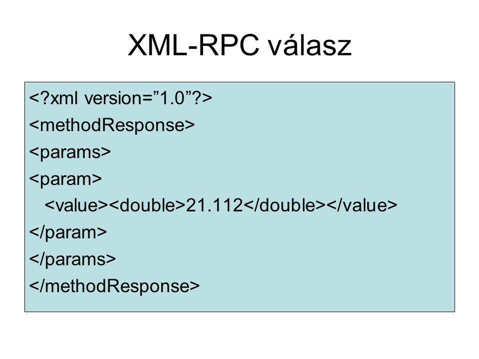 XML-RPC válasz 21.112