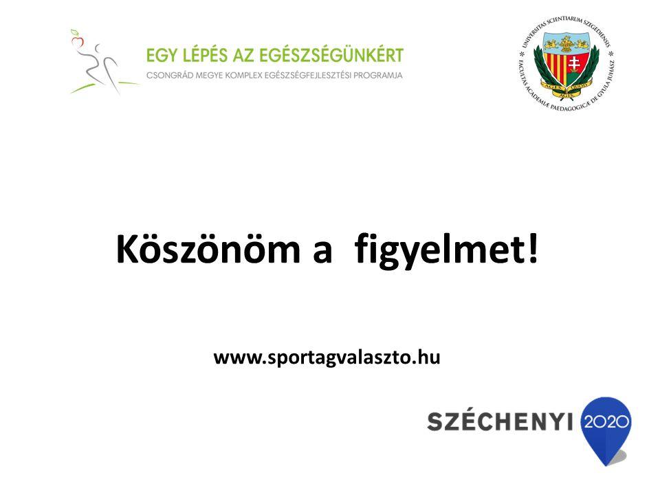 Köszönöm a figyelmet! www.sportagvalaszto.hu