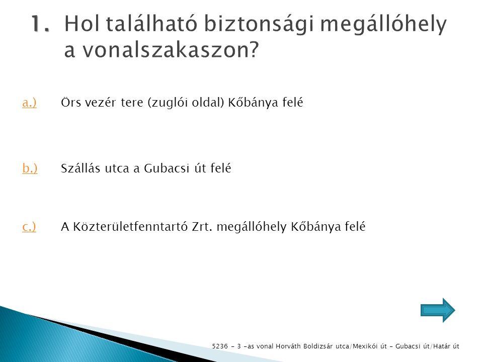 5236 - 3 -as vonal Horváth Boldizsár utca/Mexikói út - Gubacsi út/Határ út 1.