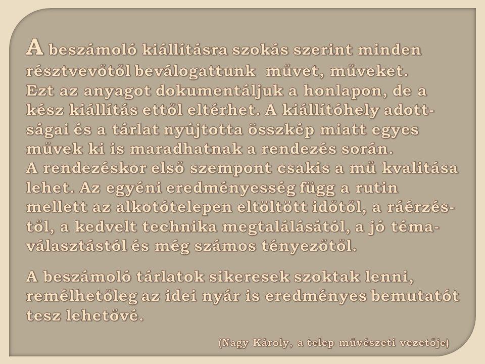 KÁLMÁN LUCA / AKVARELL, SZÉN