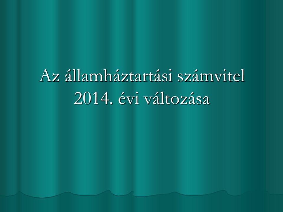 Az államháztartási számvitel 2014. évi változása
