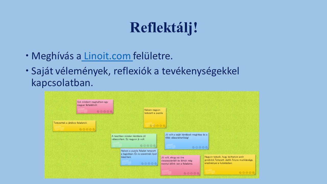Reflektálj.  Meghívás a Linoit.com felületre.