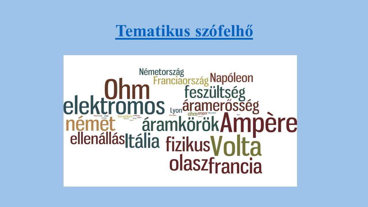 Rezumé A projekt során a tanulók megismerik Ampere, Volta és Ohm életrajzát, munkásságát.