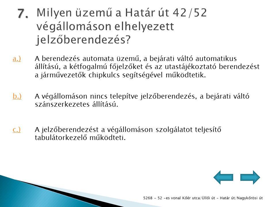 5268 - 52 -es vonal Kőér utca/Üllői út - Határ út/Nagykőrösi út 7.