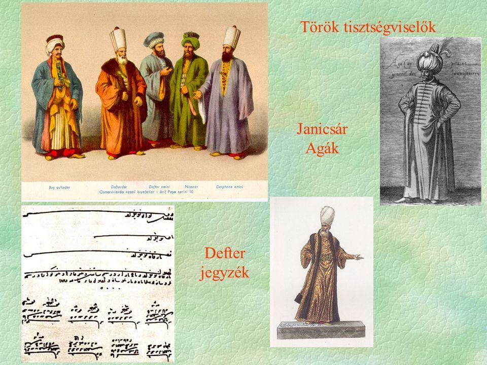 Defter jegyzék Török tisztségviselők Janicsár Agák