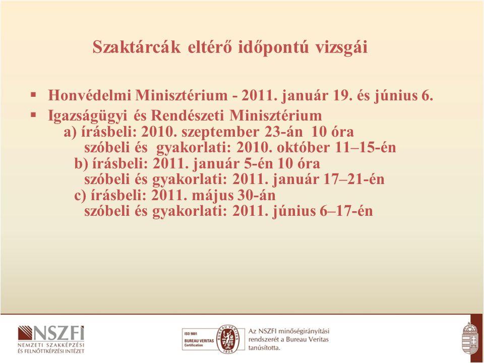 (folytatás)  Földművelésügyi és Vidékfejlesztési Minisztérium a) írásbeli: 2010.