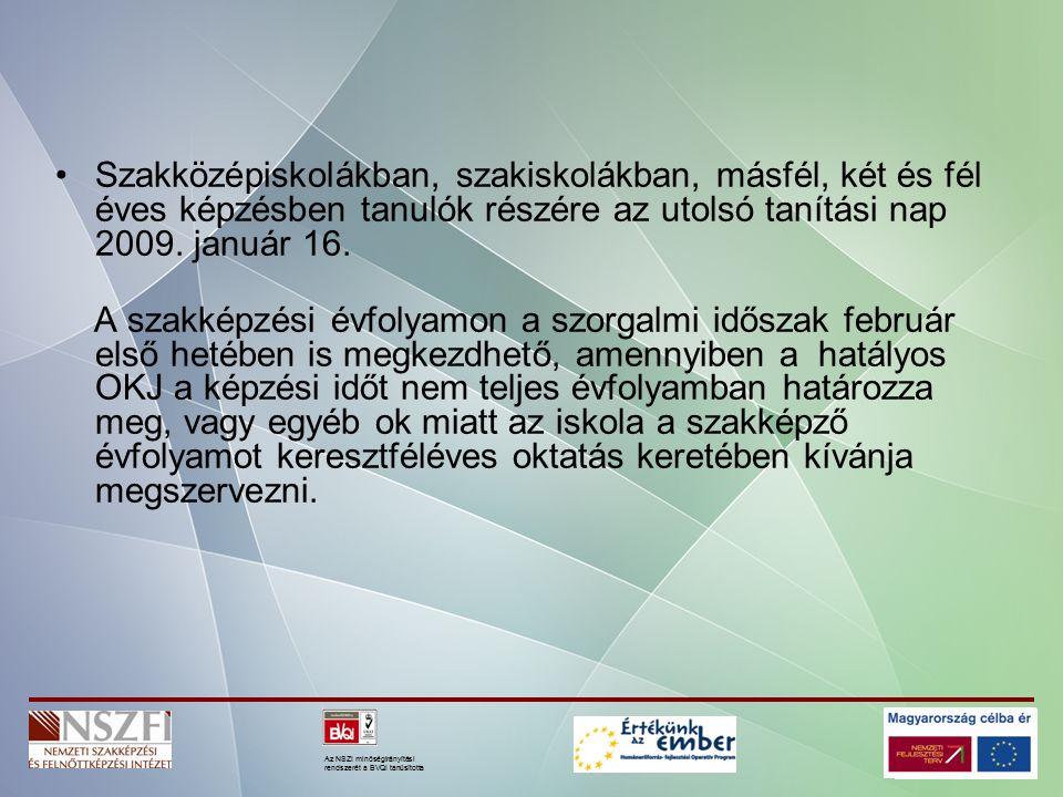 Az NSZI minőségirányítási rendszerét a BVQI tanúsította 17/2008.
