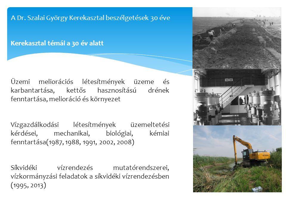 Üzemi meliorációs létesítmények üzeme és karbantartása, kettős hasznosítású drének fenntartása, melioráció és környezet Vízgazdálkodási létesítmények