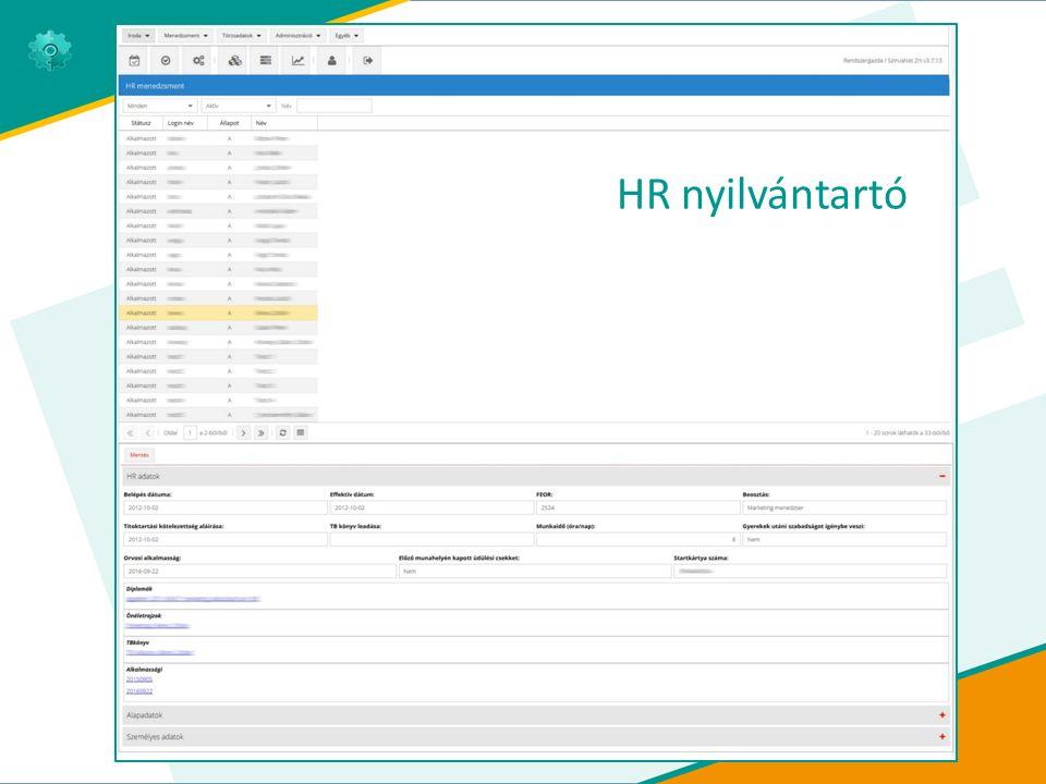 HR nyilvántartó