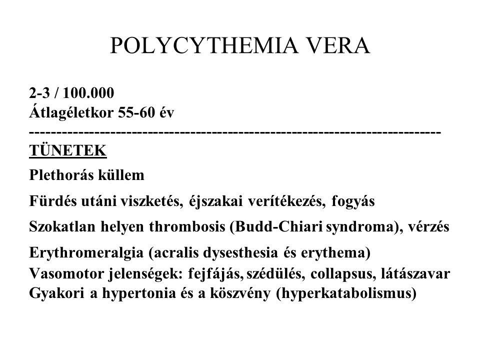 PV valószínű WBC 15.1 Giga/L H 4.0-10.0 x Neutrofil sejt 77.5 % H 53.0-75.0 x Limfocita 11.1 % L 25.0-40.0 x Monocita 2.8 % 2.0-10.0 x Eozinofil 7.2 % H 0.0-7.0 x Bazofil 1.4 % H 0.0-1.0 x vvt szám 7.42 Tera/L H 4.10-5.10 x Hemoglobin 162 g/L H 123-153 x Hematokrit 0.53 L/L H 0.35-0.45 x MCV 71.2 fL L 80.0-96.0 x MCH 21.8 pg L 28.0-33.0 x MCHC 306 g/L L 320-360 x RDW 18.8 % H 11.6-14.8 x Thrcyta 530 Giga/L H 150-400 x MPV 8.5 fL 6.5-12.0 x Retikulocyta**** 16 %o 5-20 x Reticuloc.