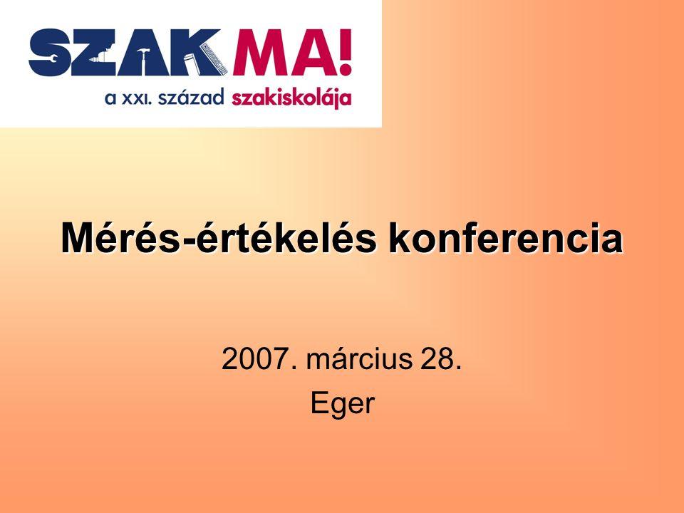 Mérés-értékelés konferencia 2007. március 28. Eger