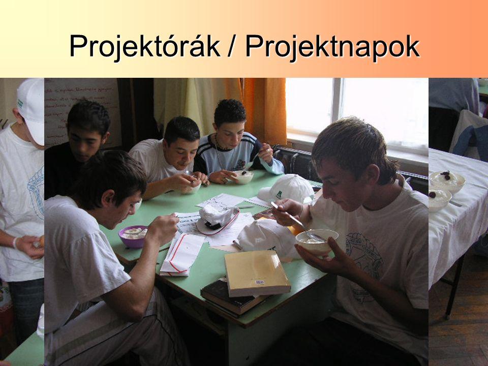 Projektórák / Projektnapok