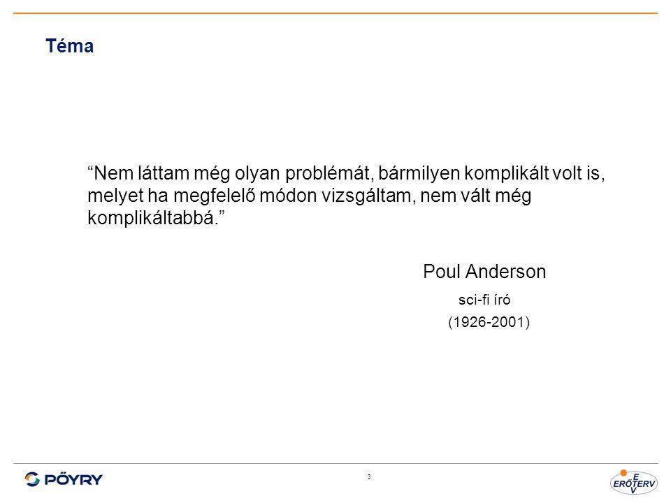 3 Téma Nem láttam még olyan problémát, bármilyen komplikált volt is, melyet ha megfelelő módon vizsgáltam, nem vált még komplikáltabbá. Poul Anderson sci-fi író (1926-2001)