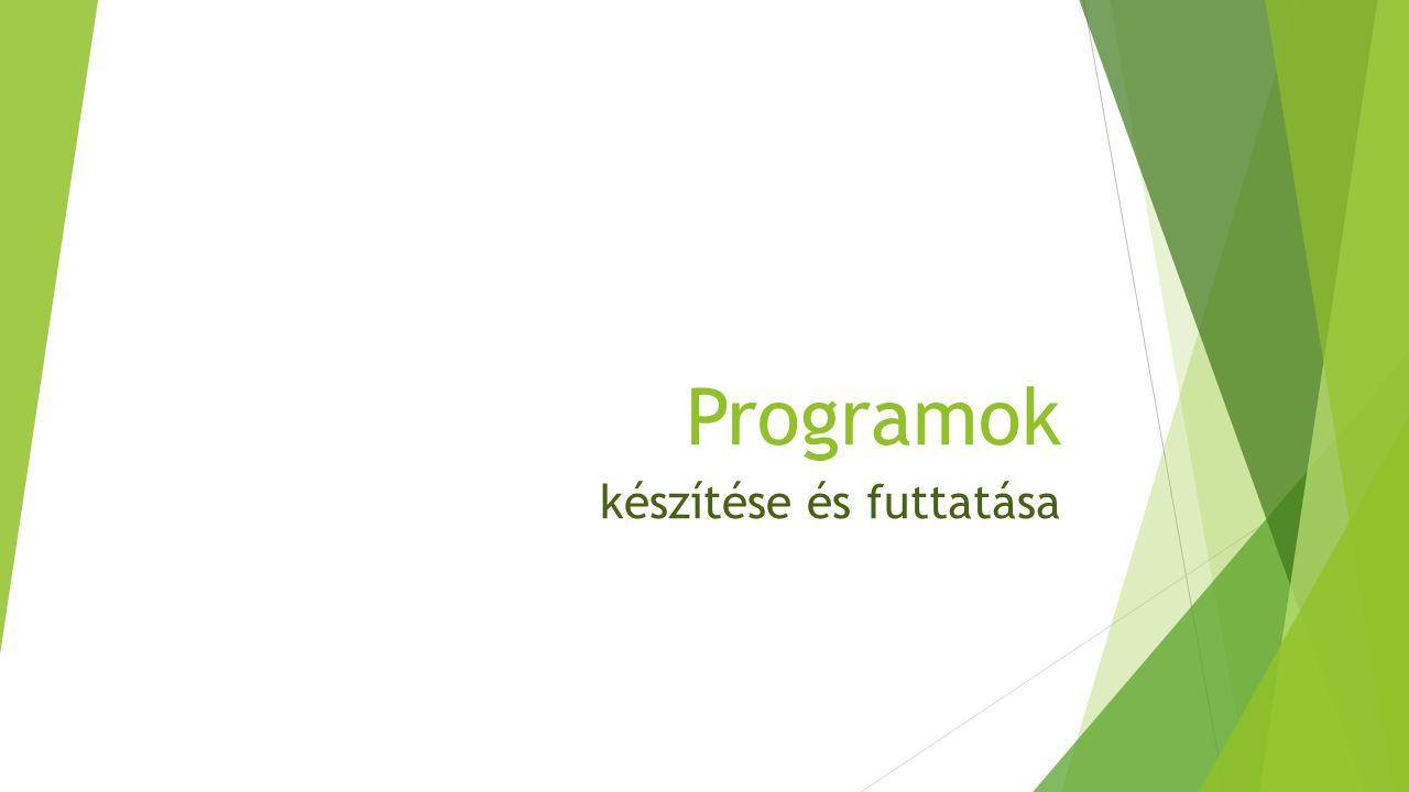 Integrált fejlesztői környezet (IDE) tartalmaz:  szövegszerkesztőt a program forráskódjának szerkesztésére,  fordítóprogramot vagy értelmezőt,  nyomkövetési, grafikusfelület-szerkesztési és verziókezelési lehetőségeket,  kiegészítő lehet pl.