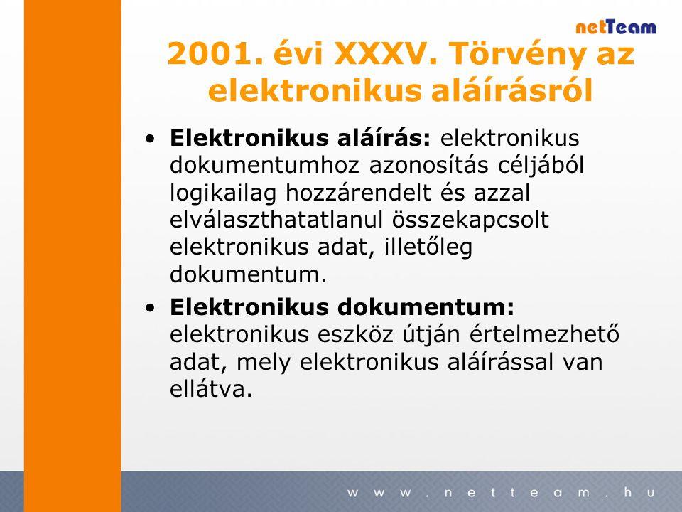 2001. évi XXXV.