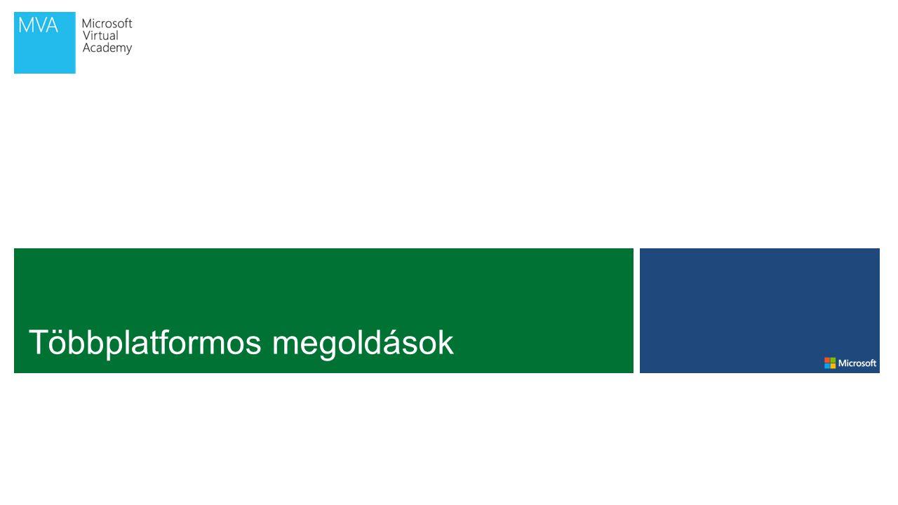 DEMO Xamarinos környezet beállítása; indulás Visual Studióból