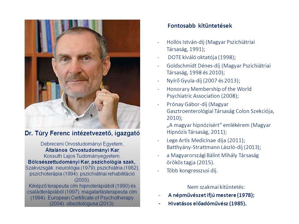 Fontosabb kitüntetések -Hollós István-díj (Magyar Pszichiátriai Társaság, 1991); - DOTE kiváló oktatója (1998); -Goldschmidt Dénes-díj (Magyar Pszichi
