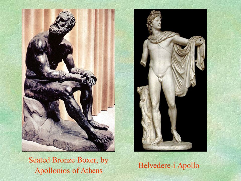 Belvedere-i Apollo Seated Bronze Boxer, by Apollonios of Athens