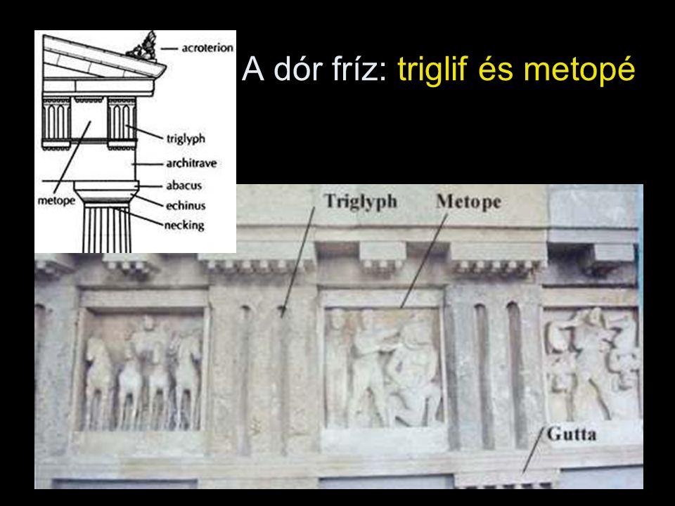 A dór fríz: triglif és metopé