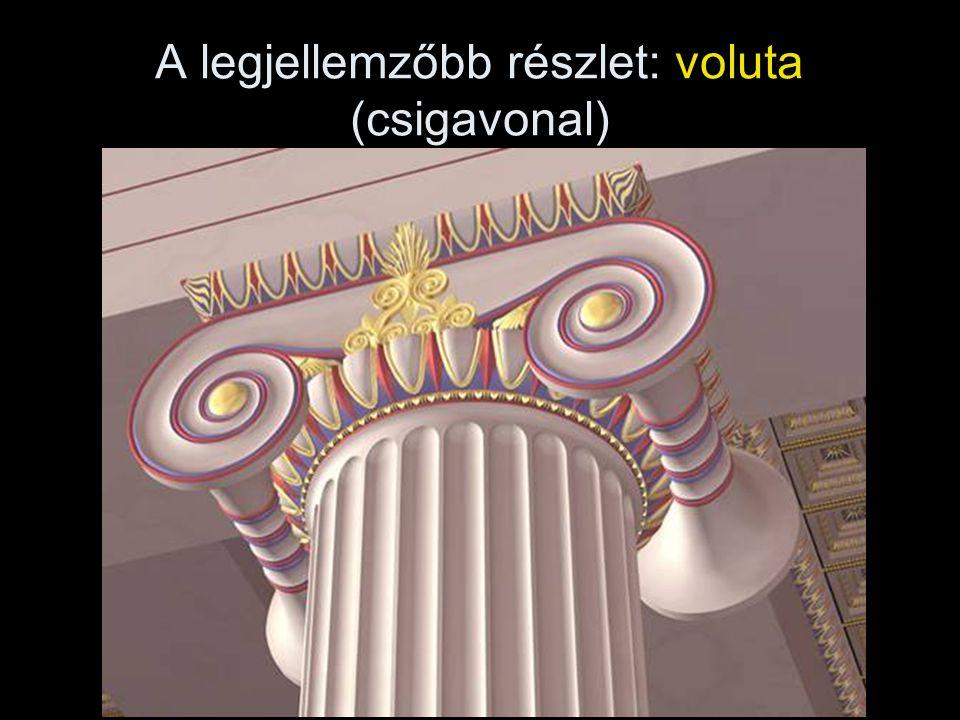 A legjellemzőbb részlet: voluta (csigavonal)