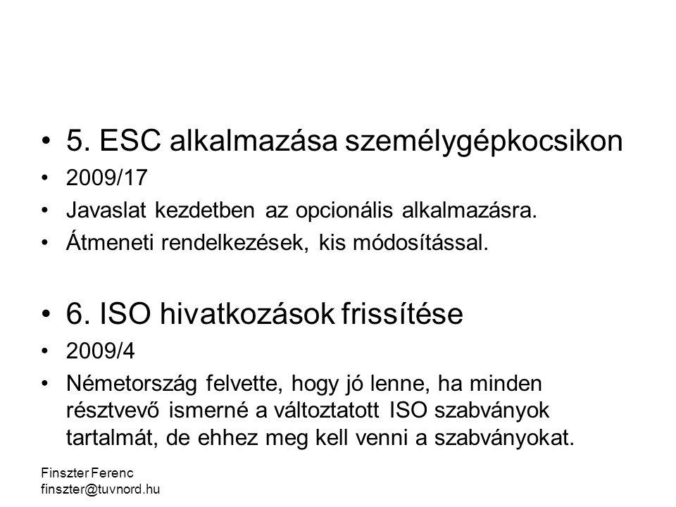 Finszter Ferenc finszter@tuvnord.hu 5.