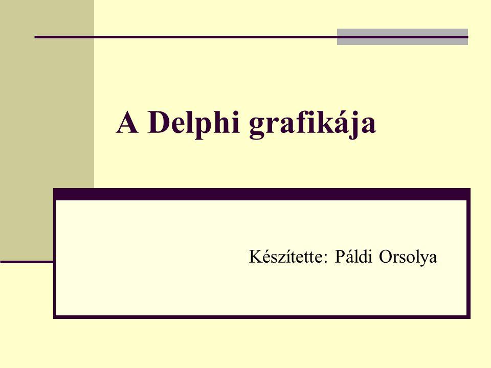 A Delphi grafikája Készítette: Páldi Orsolya
