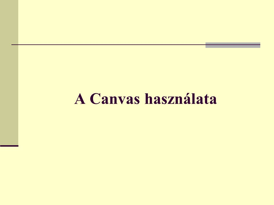 A Canvas használata