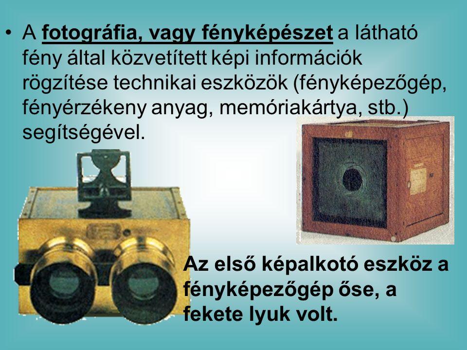 A fotográfia, vagy fényképészet a látható fény által közvetített képi információk rögzítése technikai eszközök (fényképezőgép, fényérzékeny anyag, memóriakártya, stb.) segítségével.