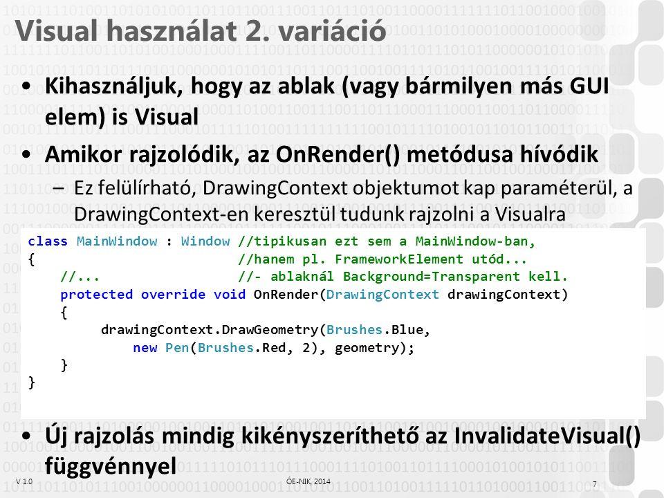 V 1.0ÓE-NIK, 2014 Visual használat 2.